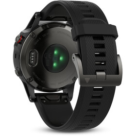 Garmin fenix 5 GPS Multisportuhr mit schwarzem Armband grau